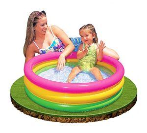 Intex Baby Pool 3-Ring Regenbogen – Baby Planschbecken  kaufen