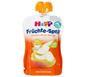 HiPP Früchte-Spaß – Banane-Birne-Mango, 6-er Pack (6 x 90 g) – Bio  kaufen