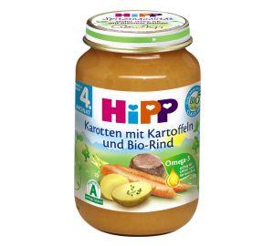 HiPP Karotten mit Kartoffeln und Bio-Rind, 6-er Pack (6 x 190 g) – Bio  kaufen