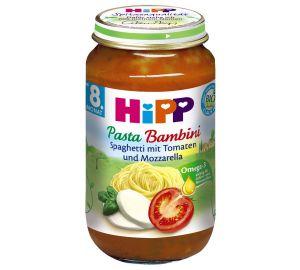 HiPP Pasta Bambini – Spaghetti mit Tomaten und Mozzarella (6 x 220 g)  kaufen