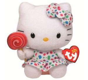 Hello Kitty – Baby-Lollipop, bunt gepunktetes Kleid und Schleife, 14 cm Größe  kaufen