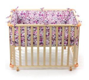 Baby Laufgitter,Holz 4-Eck mit Softeinlage, violett  kaufen