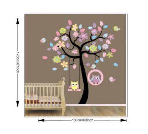 Babyzimmer gestalten wandgestaltung eule  Babyzimmer Gestalten Wandgestaltung Eule | andorwp.com