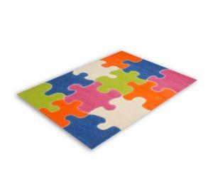 Kinderteppich / farbenfrohes Puzzle / Größe 100 x 150 cm.  kaufen