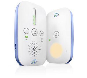 Philips Avent SCD501/00 Audio-Babyphone mit DECT-Technologie, Nachtlicht, Geräuschpegelanzeige,  weiß/blau online kaufen