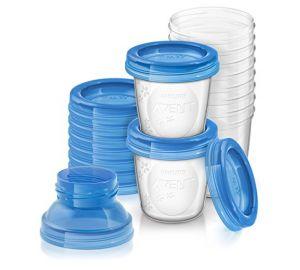 Philips AVENT – Aufbewahrungssystem für Muttermilch, 10 Becher inkl. Deckel und Adapter  kaufen