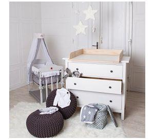 Naturholz Wickeltischaufsatz für IKEA Hemnes oder Hurdal Kommode  kaufen
