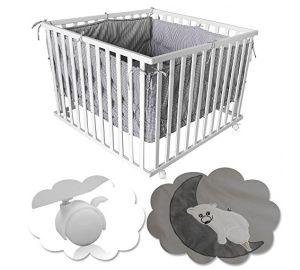 Baby Laufgitter,Kinder Krabbelgitter,Laufstall höhenverstellbar + Einlage  kaufen