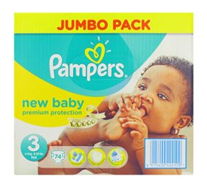 New Baby Jumbo Pack – New Born, Gr 3, 4-7 kg, 148 Stück Pampers  kaufen