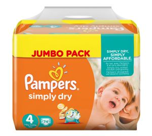 Pampers Simply Dry Gr. 4 Maxi 7-18 kg Jumbo Pack, 2er Pack  kaufen